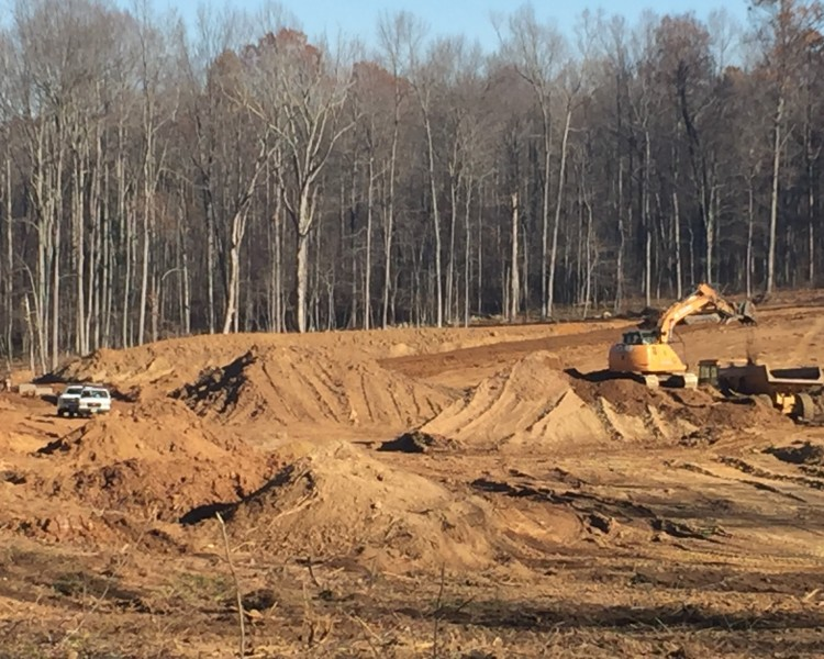 New pond under construction near amissville for Pond companies near me